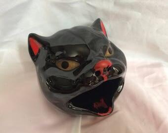 1950's Black Cat Redware Ashtray