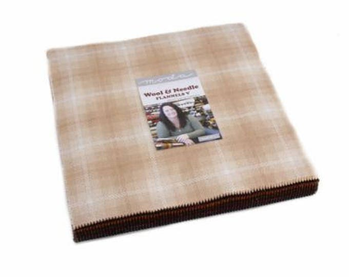 Wool & Needle V by Primitive Gatherings Layer Cake Flannel