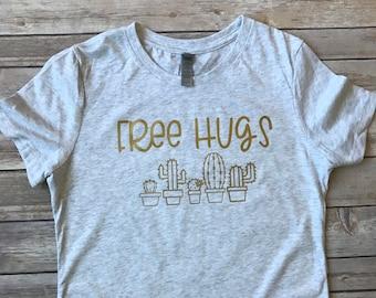 Free Hugs Women's Cactus Shirt