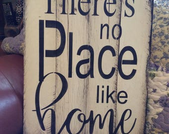 There's no place like home pallet wood sign