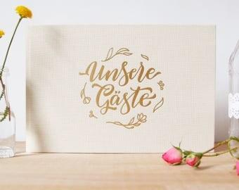 GÄSTEBUCH HOCHZEIT, Hochzeitsgästebuch, Gästebuch, Wedding, Letterpress, mint, gold, Handlettering, lettering, Hochzeitsalbum, Hotfoil,