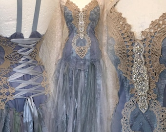 Bridal gown blue beauty,wedding dress blue dream,bridal dress ethereal,Victorian wedding blue, bridal gown,vintage inspired blue wedding