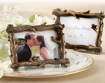 20 pcs Antique Tree Branches Frame Place Card Holders -  Photo Frame Card Stands - Wedding, Party Banquets Table Decors