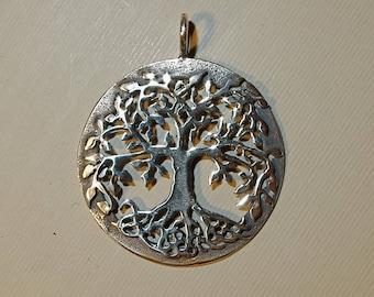 Tree pendant etsy tree pendant in sterling silver aloadofball Choice Image