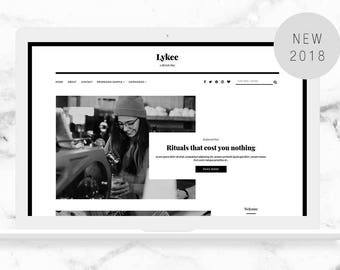 Responsive Blogger Template - Premade Blogger Theme - Minimalist Blogger Template - LYKEE