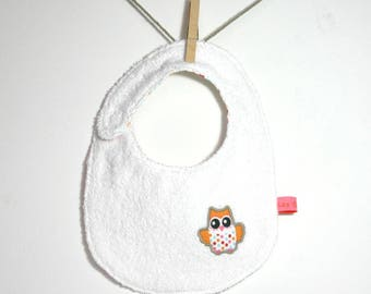 "White bib ""OWL"", reversible"