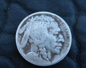 1913  US circulated  authentic vintage Buffalo Indian Nickel coin full date  A133