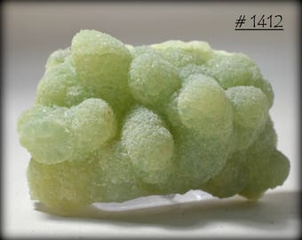 Pretty, Stalactitic, Green/Yellow Botryoidal Prehnite - Mineral Specimen from Yunnan Province, China