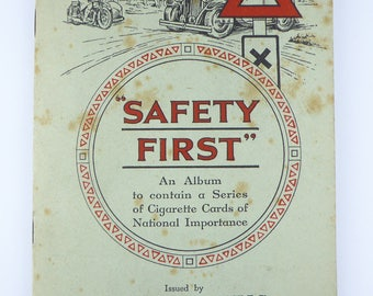"""British Cigarette Card Set (Full Set of 50 Cards) - """"Safety First"""". Issued by W D & H O Wills Cigarettes."""