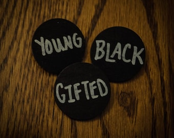 Young, Gifted and Black Pin Set