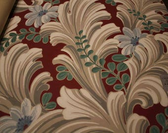Imperial Wallpaper Sample Gray Plumes