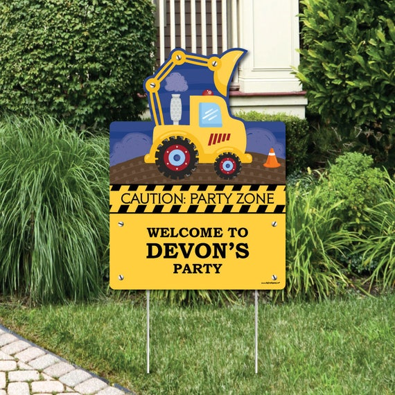 Construction Truck Welcome Sign Birthday Party or Baby Shower