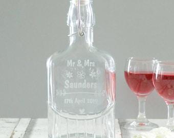 Personalised Wedding Sloe Gin Bottle