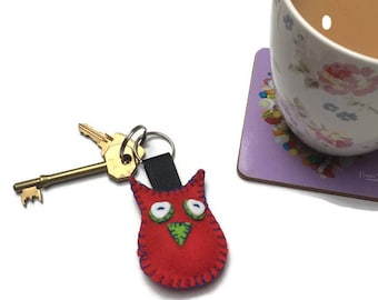 Owl keyring | Felt Owls | Birthday Gift | Present for mum | gift for kids | Owl Mad | Twit Twoo | Love Owls | Owl Gift | Purple Owl |