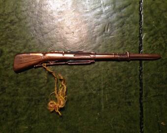 Vintage Souvenir Letter Opener- Desk Decor- Brainerd  Minn.-  Copper Rifle