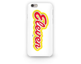 Eleven Eggo Phone Case Design from the Stranger Things Universe Inspired from the Eggo Waffle font for Eleven's love for waffles