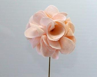 Blush Pink Flower Lapel Pin