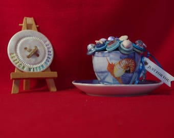 Seaside Themed Tea Cup Posy OOAK