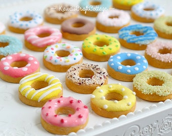Miniature Food Donuts Bakery Sweets Willie Wishers Doll American Girl Doll Food Ag Doll Playscale Food AGD MSD Dollfie Accessories 1/4 scale