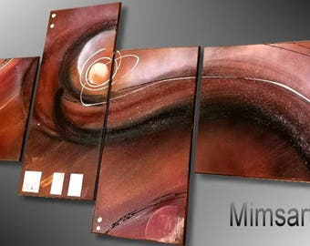 PAINTING abstract modern design Brown
