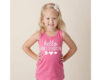 Hello Kindergarten Tank Top Kindergarten Shirt