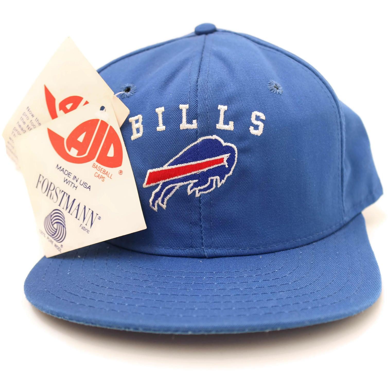 3fa09c47414 New Old Stock Buffalo Bills Vintage Snapback Hat Blue Script AJD 1980s Made  in USA
