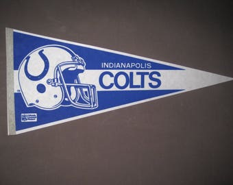 Vintage Indianapolis Colts NFL Football Pennant