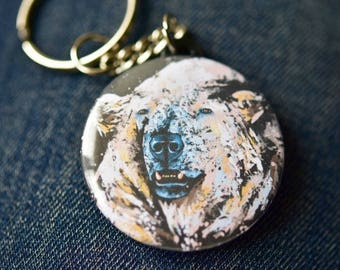 A polar bear keychain