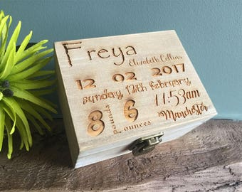 Personalised Wooden Keepsake Boxes In 2 Wood Finishes available in any design of your choice...
