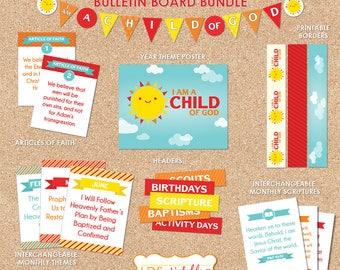 I am a Child of God Bulletin Board Bundle Set 2018 Primary Theme