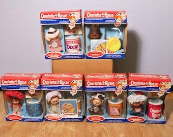 Vintage Lot of 6 Charlotte Russe Dolls- Complete Set, 1983-NIB