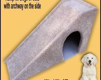 Pet Ramp with opening on the side. Dog Ramp 18Hx14Wx35D,  Cat Ramp, Pet Ramp. Built to last.