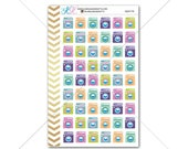 Washing Machine Stickers for planner, calendar! Functional planner stickers to do sticker functional sticker chore sticker #SQ00738