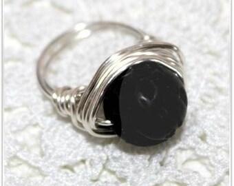 Lava stone ring