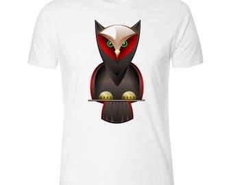 Dark Owl Men's White T shirt