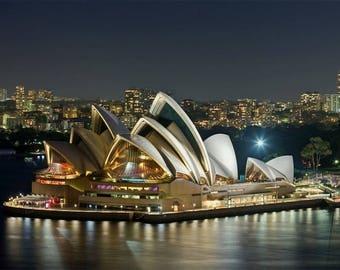 Laminated placemat Australia Sydney Opera House
