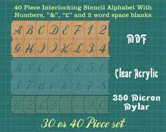 100mm Interlocking Alphabet Stencil PLUS Numbers PLUS -spacers and More ISA002