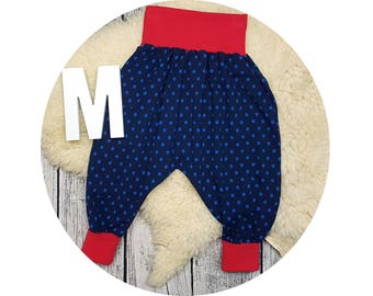 Baby pants, baby, pants, Jersey pants, Mitwachsen trousers, harem trousers, harem pants, points, maritim, polka dots, marine