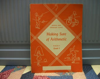 1953  Marking Sure of Arithmetric Workbook for 5th Grade Students
