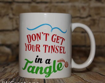 Don't get your tinsel in a tangle coffee cup
