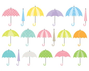 Umbrella Clipart Umbrella Clip Art Rainy Day Clipart Rainy Season Clipart Cute Umbrella Shower Clipart Colorful Umbrella Clipart Clip Art