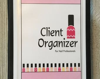 Nail Technician/Manicurist Customer Organizer - Cute Nail Polish Bottle Design