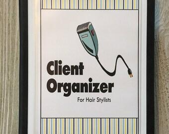 Hair Stylist Client Organizer  - Stylist Tools  - Blue