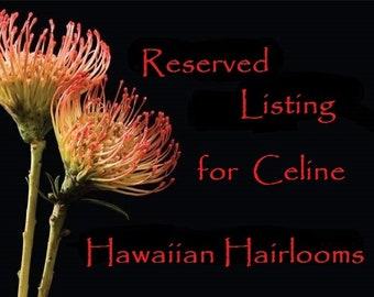 RESERVED LISTING for CELINE- 3 Plumeria et Oiseaux de Paradis clips pour mariage.