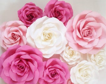 Sale Paper roses backdrop
