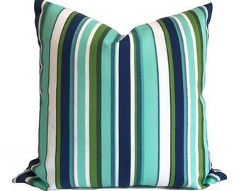 Outdoor cushion, Patio cushions, Outdoor pillow cover, Blue outdoor pillow, Outdoor throw pillow, Green outdoor pillow, 16x16, 18x18, 20x20