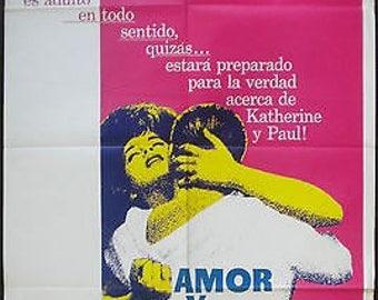 Vintage Move Poster Spanish 1963 Original Poster Kitsch  Melodrama