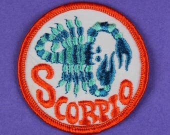 Scorpio Zodiac Sign Vintage 1970s NOS Patch