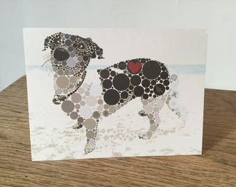 Jack Russell greeting cards, set of six.