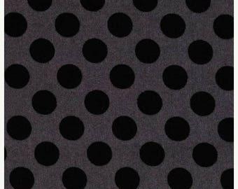 SALE SALE SALE Ta dot Ebony 100% Premium cotton by Michael Miller fabrics. Fat qrts, 1/2 yards and by the yard, Ta dot, Tone on tone, Black,